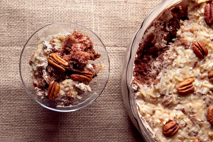 German Chocolate Cake Trifle