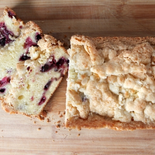 Blueberry Lemon Bread with Crunchy Topping