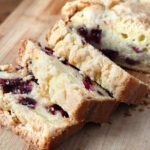 Blueberry lemon bread with a sweet crunchy crumble topping. Have it for a treat with a cup of coffee or tea or serve with breakfast. Freezer friendly - freeze individual slices wrapped in cling wrap and thaw on the counter!