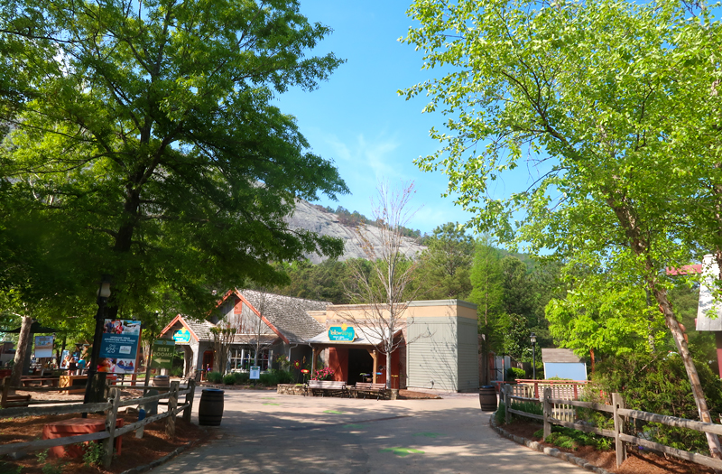 Stone Mountain Park review - our day at the park with our toddler and baby riding the train, seeing the dinosaurs, and enjoying the sunshine.