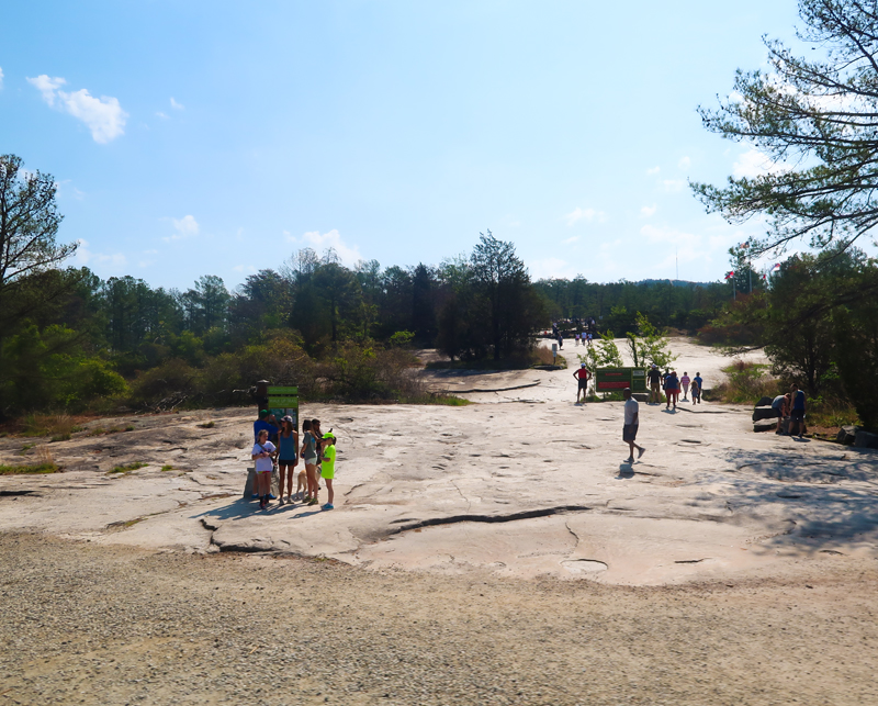 What To Do At Stone Mountain Park review - our day at the park with our toddler and baby riding the train, seeing the dinosaurs, and enjoying the sunshine.
