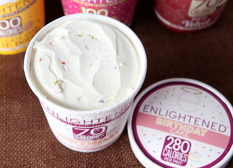 Enlightened Low Calorie Ice Cream Birthday Cake