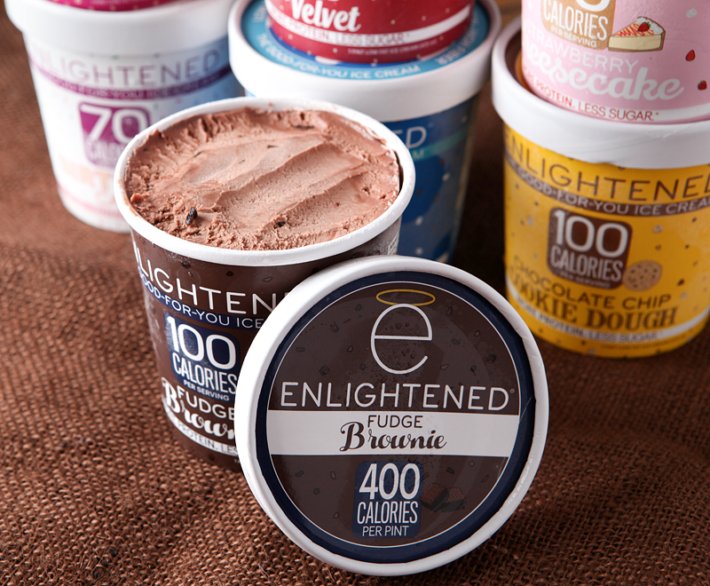 Enlightened low calorie ice cream