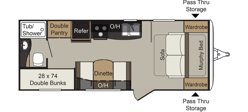 Keystone Passport 238ML Floor Plan