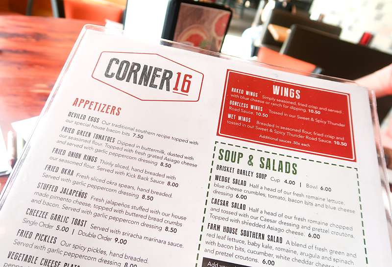 Corner 16 Restaurant Review