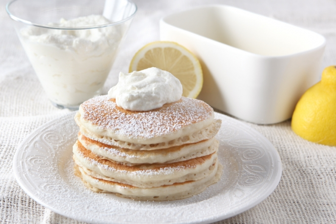 Whipped Lemon Ricotta Pancake Topping