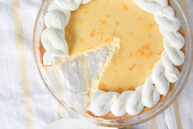 Orange Creamsicle Pie With Ginger Whipped Cream