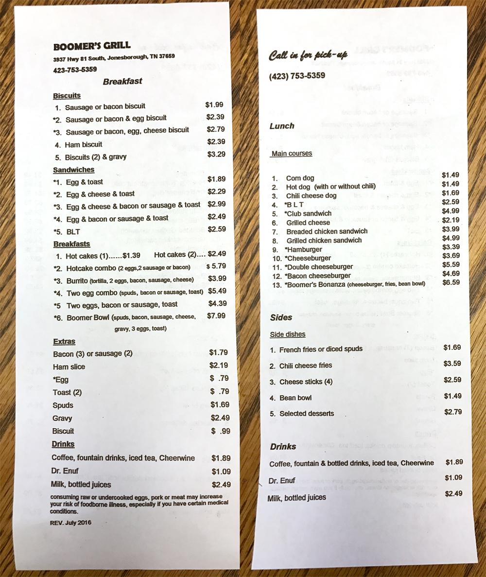 100 The Dining Room Jonesborough Tn Jonesborough Tn  : boomers grill menu from 173.199.118.48 size 1000 x 1187 jpeg 868kB