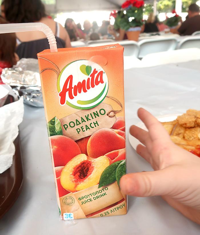 greek peach juice