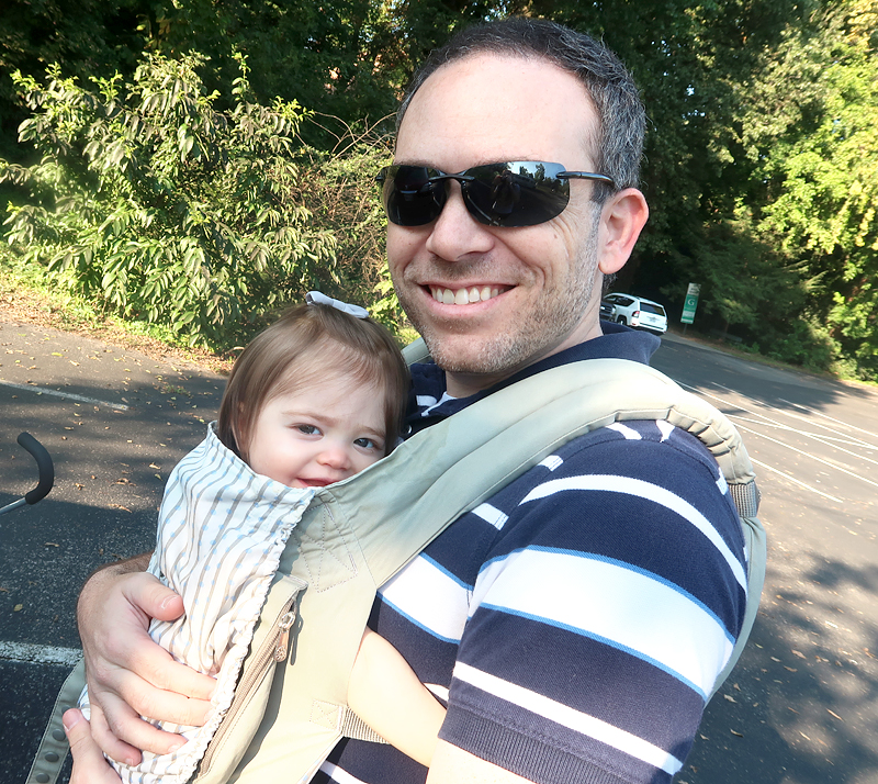 dad with baby in ergo carrier