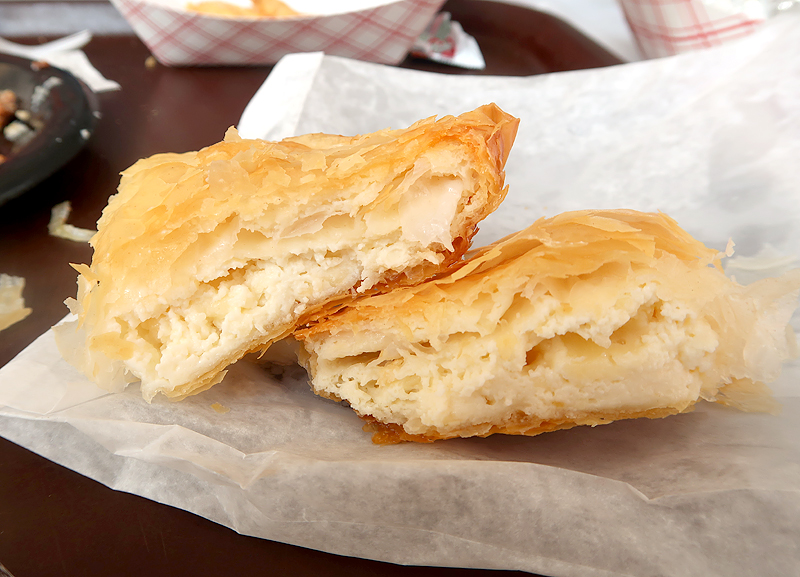 Tiropita - layers of phyllo filled with cheesy egg