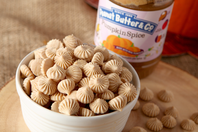 Pumpkin Spice Peanut Butter Frozen Yogurt Bites