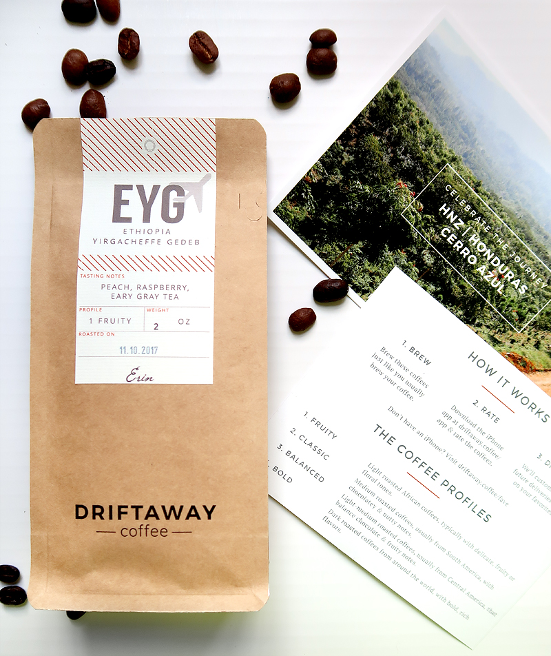 Coffee roasted just days before it is shipped - coffee subscription box tailored to your specific tastes!