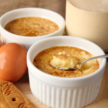 Easy Eggnog Custards