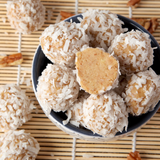 No Bake Orange Coconut Snowballs