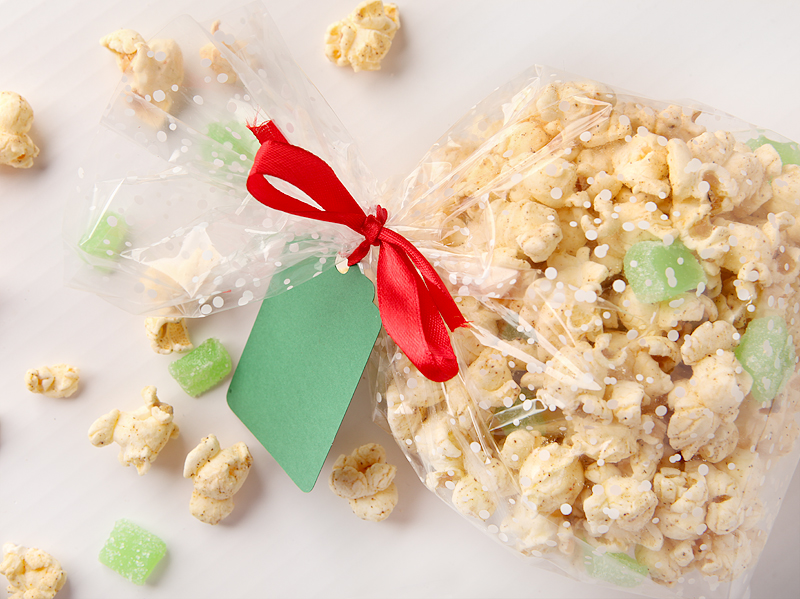 How to doctor up packaged flavored popcorn into a fun mix. Great homemade holiday gift idea!