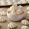 How to make perfectly crispy double almond meringue cookies, a low calorie cookie recipe at only 15 calories each!