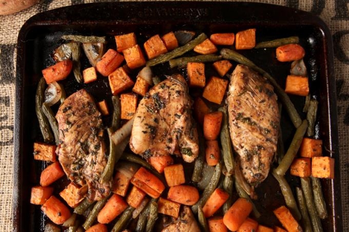 Sheet Pan Dinner   Balsamic Herb Chicken & Vegetables