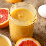 Blood Orange Curd - use it to top pancakes, waffles, or buttermilk biscuits. Drizzle it over ice cream, dollop it on pound cakes or sweet breads - there's a million way to use it!