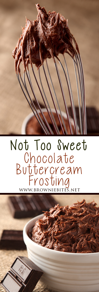 How to make chocolate buttercream frosting that is not too sweet!
