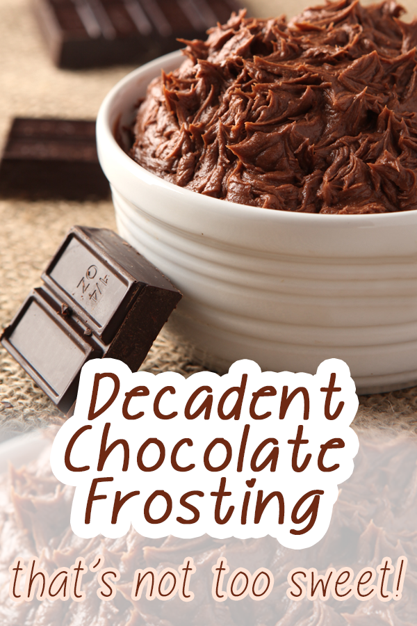 not too sweet chocolate frosting