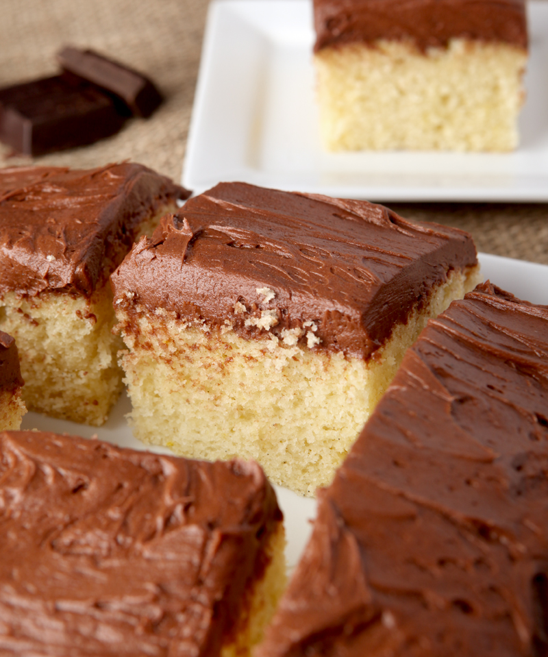 This is it - my favorite yellow cake! This recipe makes an incredibly moist yellow cake that is a perfect small size (8 inch square) for a weekend treat.