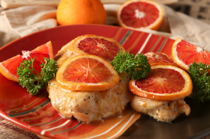 Blood Orange Glazed Chicken