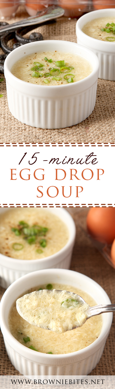 This is an insanely easy egg drop soup that's packed with flavor and is ready in 15 minutes! A perfect Asian side dish or appetizer