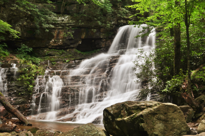 We did the Margarette Falls Hike in Greeneville TN