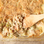 Easy Dinner Idea: easy cheesy broccoli chicken casserole with NO canned soup!