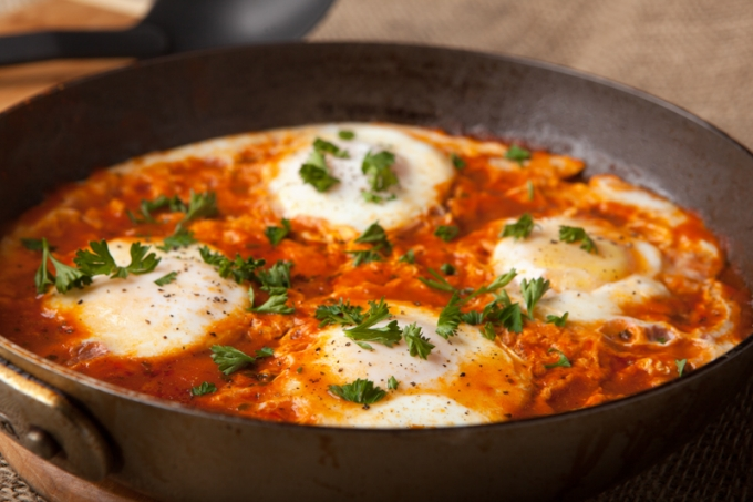 Quick and Easy Eggs in Purgatory