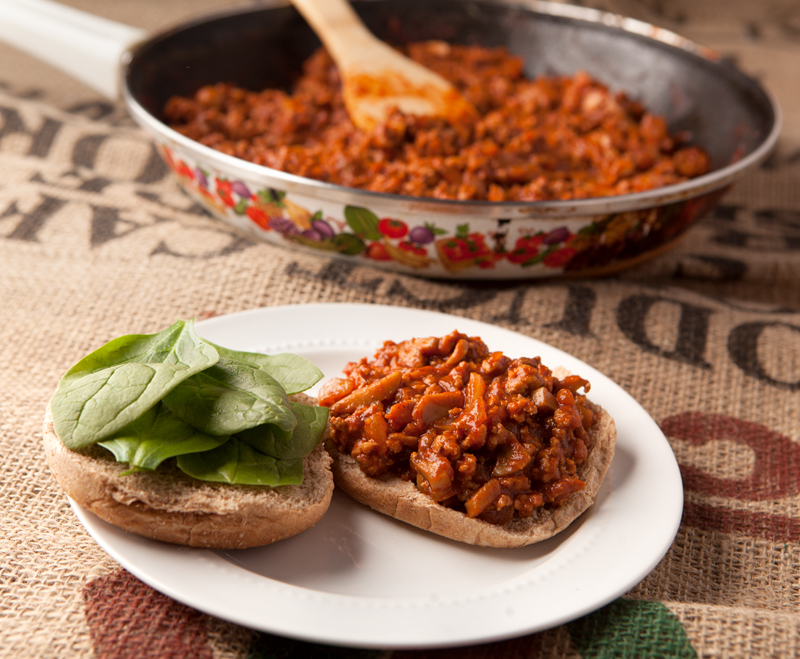 Easy and healthy ground turkey sloppy joes - lighter than the original version and they come together so quickly! Easy dinner idea.