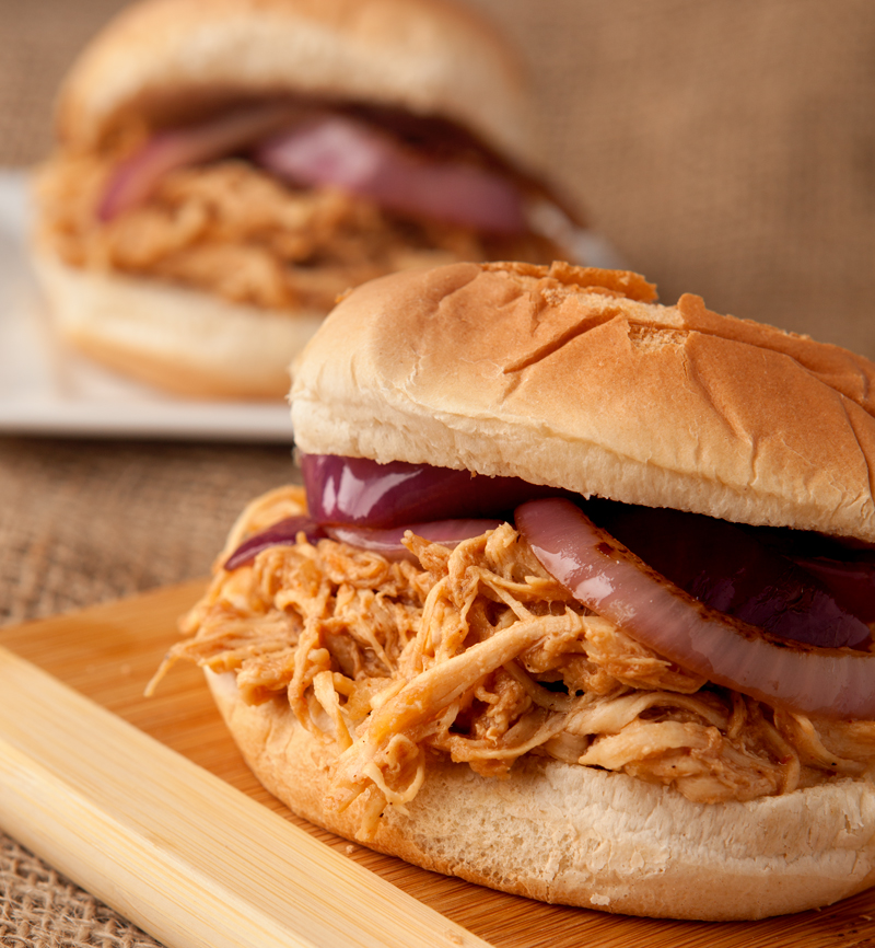 Slow Cooker Hawaiian BBQ Sandwiches - an easy dinner idea when you want lots of flavor but are short on time!
