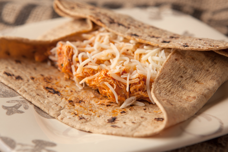 Health low carb dinner idea - chicken parmesan wraps using low carb wraps (or lettuce!) that's ready in no time.
