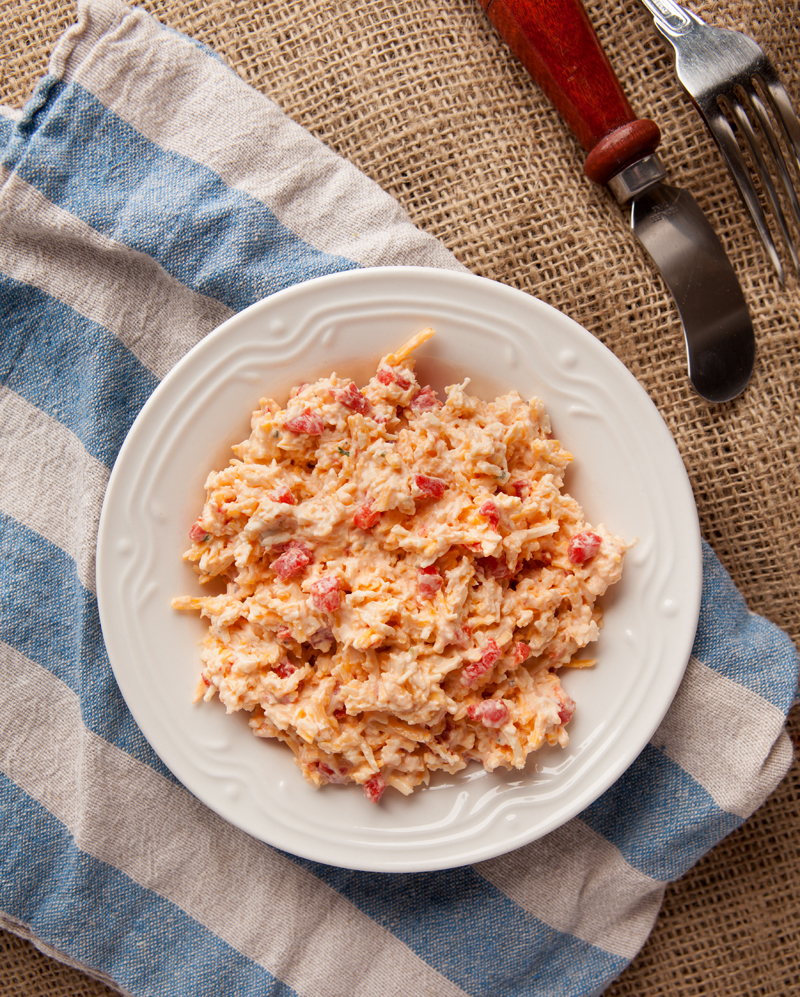Lighter Pimento Cheese - a Southern staple with half the calories of the original!