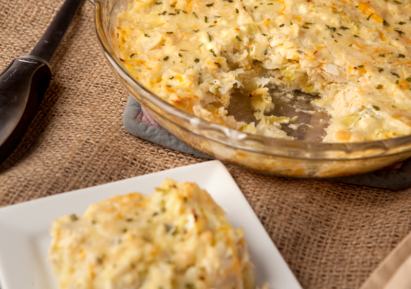 This is an easy weeknight casserole that's low carb, calorie controlled, and SO STINKING GOOD! Easy dinner idea!