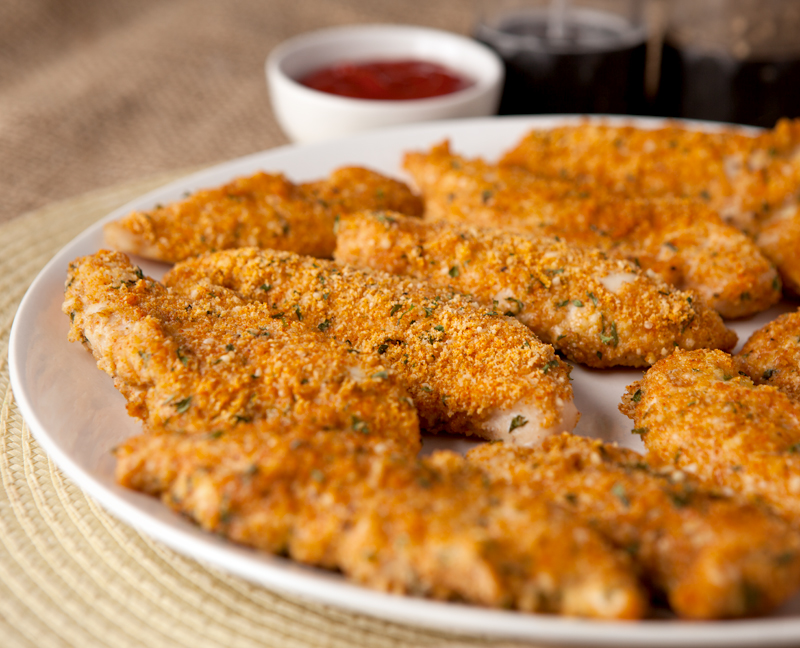 These low carb, keto friendly chicken tenders are crispy and full of flavor. My husband, who usually doesn't care for baked chicken tenders, LOVED these!! Easy low carb dinner idea!