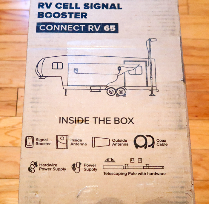 How to get better internet coverage and cell phone signal while camping in an RV! WeBoost Connect RV 65 unboxing and first impressions.
