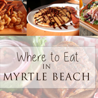 Where to eat in Myrtle Beach - read all about the best eats we indulged in during our trip! Best restaurants and breakfast spots in Myrtle beach.