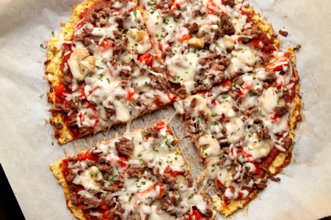 Best And Easiest Low Carb Cauliflower Pizza Crust