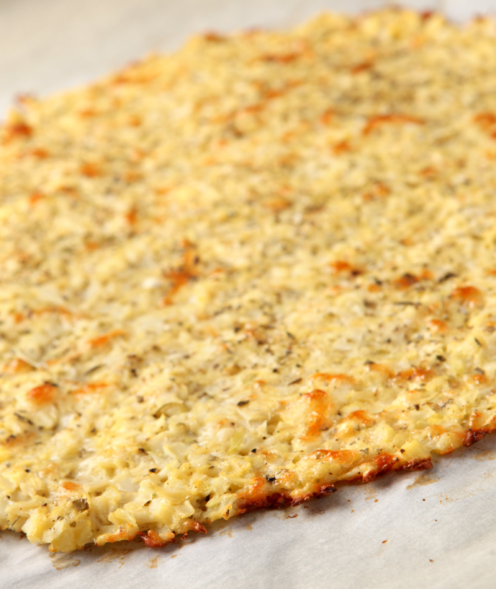 Crispy and easy cauliflower pizza crust