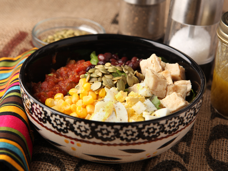 Recipe for an easy low calorie Mexican salad