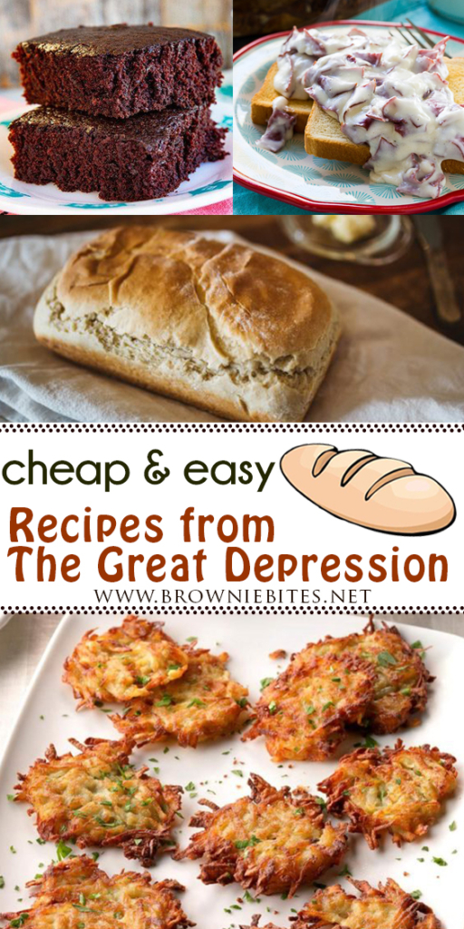 Cheap and easy recipes from The Great Depression that are still just as tasty today!