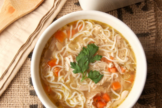 Low Carb Chicken Noodle Soup