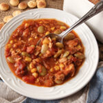 An easy and customizable Brunswick Stew that has tons of flavor and makes a ton of stew!