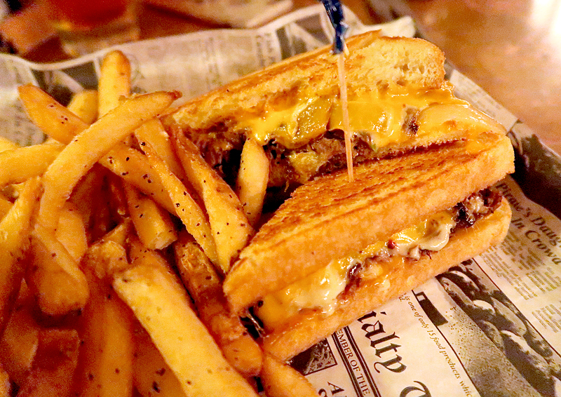 short rib grilled cheese sandwich at prohibition kitchen