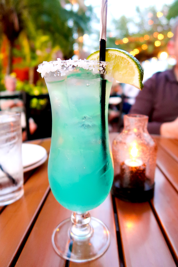 Rhythm and Blue Margarita at Harry's in St. Augustine
