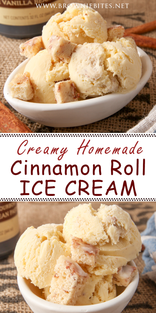 Creamy Homemade Cinnamon Roll Ice Cream