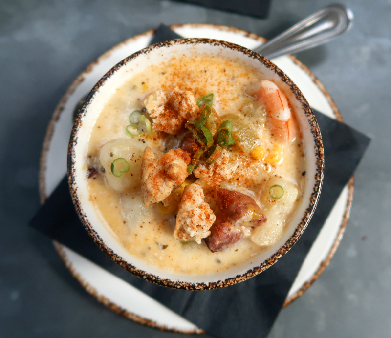 Local Shrimp Chowder at Ice Plant in St. Augustine