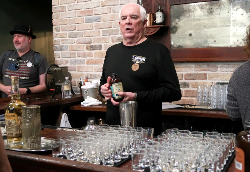 Our bartender Doug during the tasting tour of St. Augustine Distillery